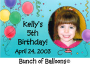 Bunch of Balloons Photo Magnet