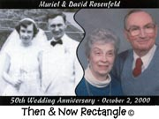 Then & Now Rectangle Anniversary Magnets