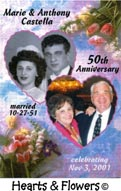 Hearts & Flowers Anniversary Magnets