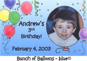 Bunch of Balloons - Blue