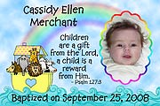 Noah's Ark Photo Baptism Magnet