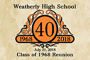 Class reunion 2 x 3 inch magnet favors in Classic emblem design are personalized with your school name, year and colors