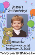 Teddy Bear Birthday-blue