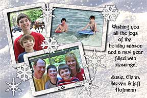 Snowflakes Christmas Photo Card