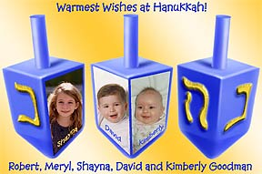Dreidels Hanukkah Photo Card