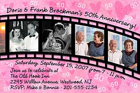Filmstrip Anniversary Photo Invitation