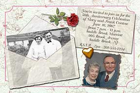 Vellum Envelope Anniversary Photo Invitation