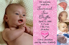 Photo Baby Birth Announcements, Custom Photo Birth Announcements !