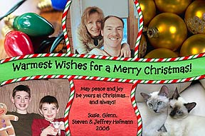 Banner Christmas Photo Card