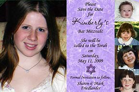 Bar Mitzvah 5-Photos Save the Date