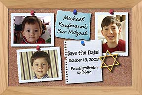 Bar Mitzvah Bulletin Board Save the Date