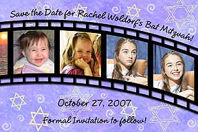 Bar Mitzvah Filmstrip Save the Date