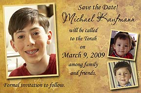 Bar Mitzvah Gold Star Save the Date
