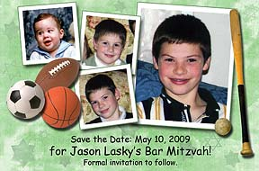 Bar Mitzvah Sports Save the Date