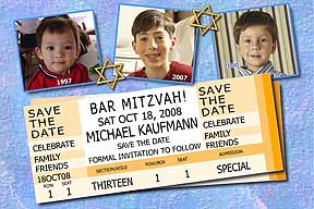 Bar Mitzvah Ticket Save the Date