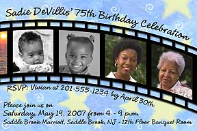 Filmstrip Photo Birthday Invitation