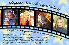 Filmstrip Photo Graduation Announcement