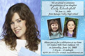 Shooting Stars Photo Graduation Announcement