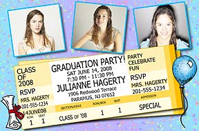 Graduation Ticket Invitation