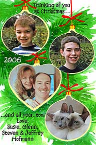 Ornaments Christmas Photo Card