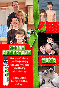 Scrapbook Style Christmas Photo Card
