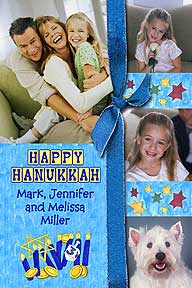Scrapbook Style Hanukkah Photo Card
