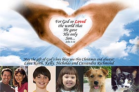 God So Loved The World Christmas Photo Card