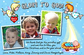 Glory to God Christmas Photo Card