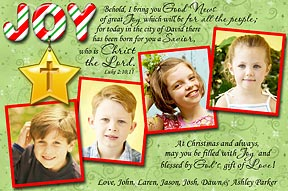 joy to the world christian photo christmas cards