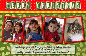 Holly Scrapbook Page Photo Christmas Cards