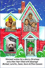 House Christmas Photo Card