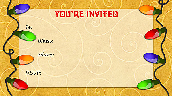 Christmas Party Free Printable Fill In Invitations  Free Xmas Invitations