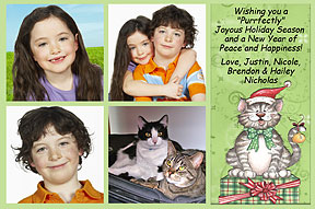 Meowy Photo Christmas Cards