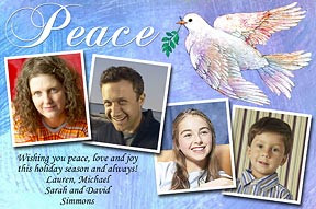 Peace Christmas Photo Card
