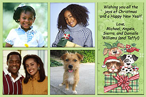 Puppies Photo Christmas Card