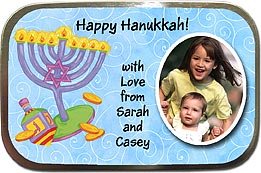 Hanukkah Photo Mint Tins