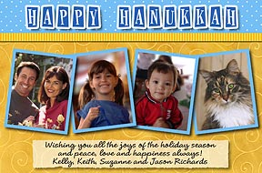 Festive Scrapbook Page Hanukkah Photo Cards
