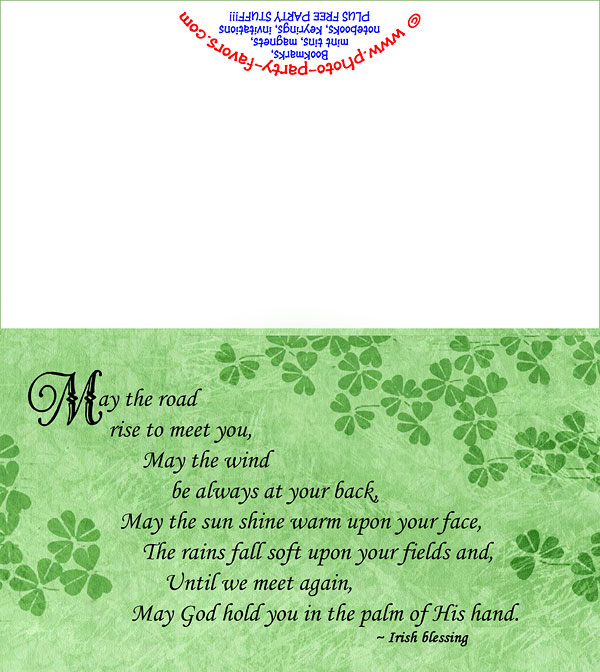 picture about Printable Irish Blessing called Free of charge Printable Irish Blessing Be aware Card - Towards Picture Get together