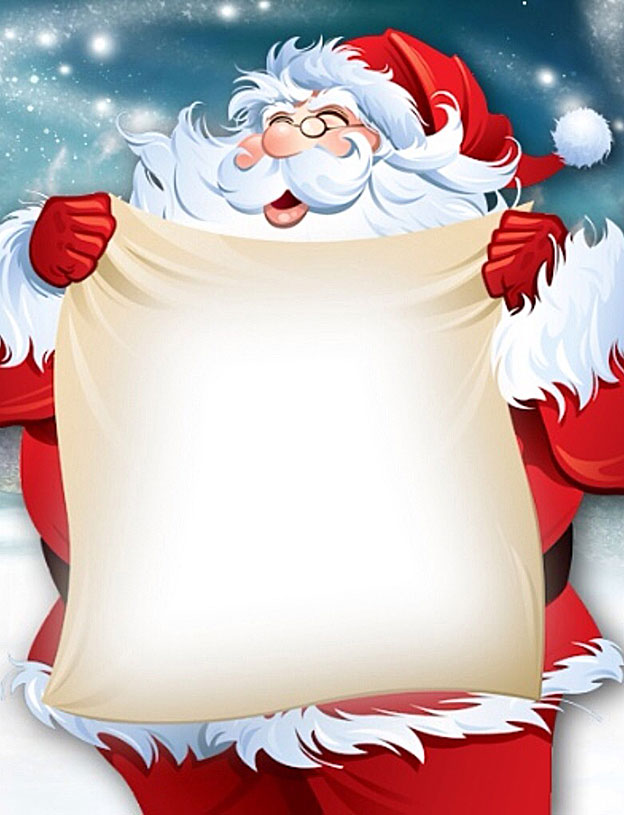 Santa Claus Christmas Note Paper - Free Printable Holiday Stationery