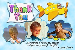 Airplane Photo Thank You Card