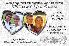 Silver Anniversary Photo Invitation