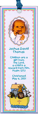 Photo Baptism Bookmarks Photo Christening Bookmarks