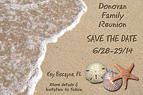 Beach Family Reunion Save the Date Cards