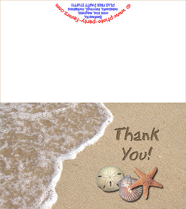 beach thank you card free printable thank you cards