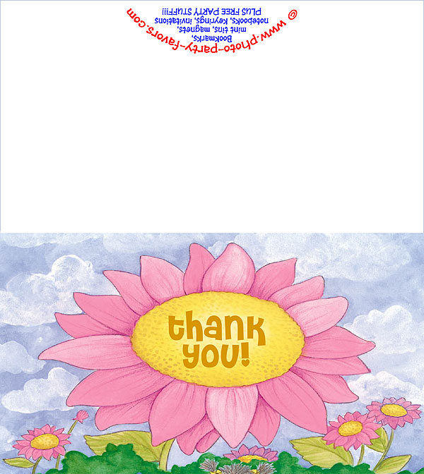 Big Flower Free Printable Thank You Card
