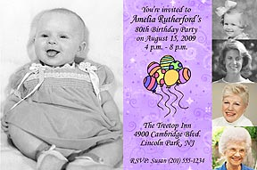 5 Photos Photo Birthday Invitation