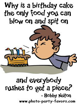 funny birthday cartoon why is a birthday cake the only food you can blow on