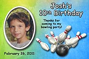 Bowling Party Photo  Magnet for a milestone birthday