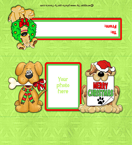 Puppy Dogs Free Printable 1.55 oz. Candy Bar Wrapper, ready to personalize with your photo and message.