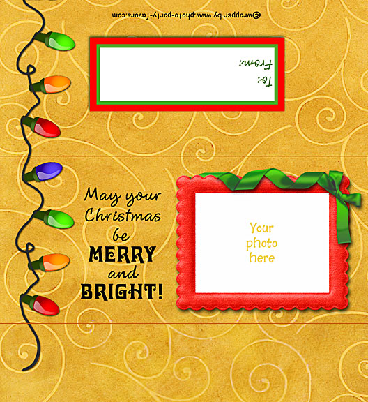 photograph regarding Printable Hershey Bar Wrappers identify Xmas Lighting Photograph Sweet Bar Wrapper - Totally free Printable